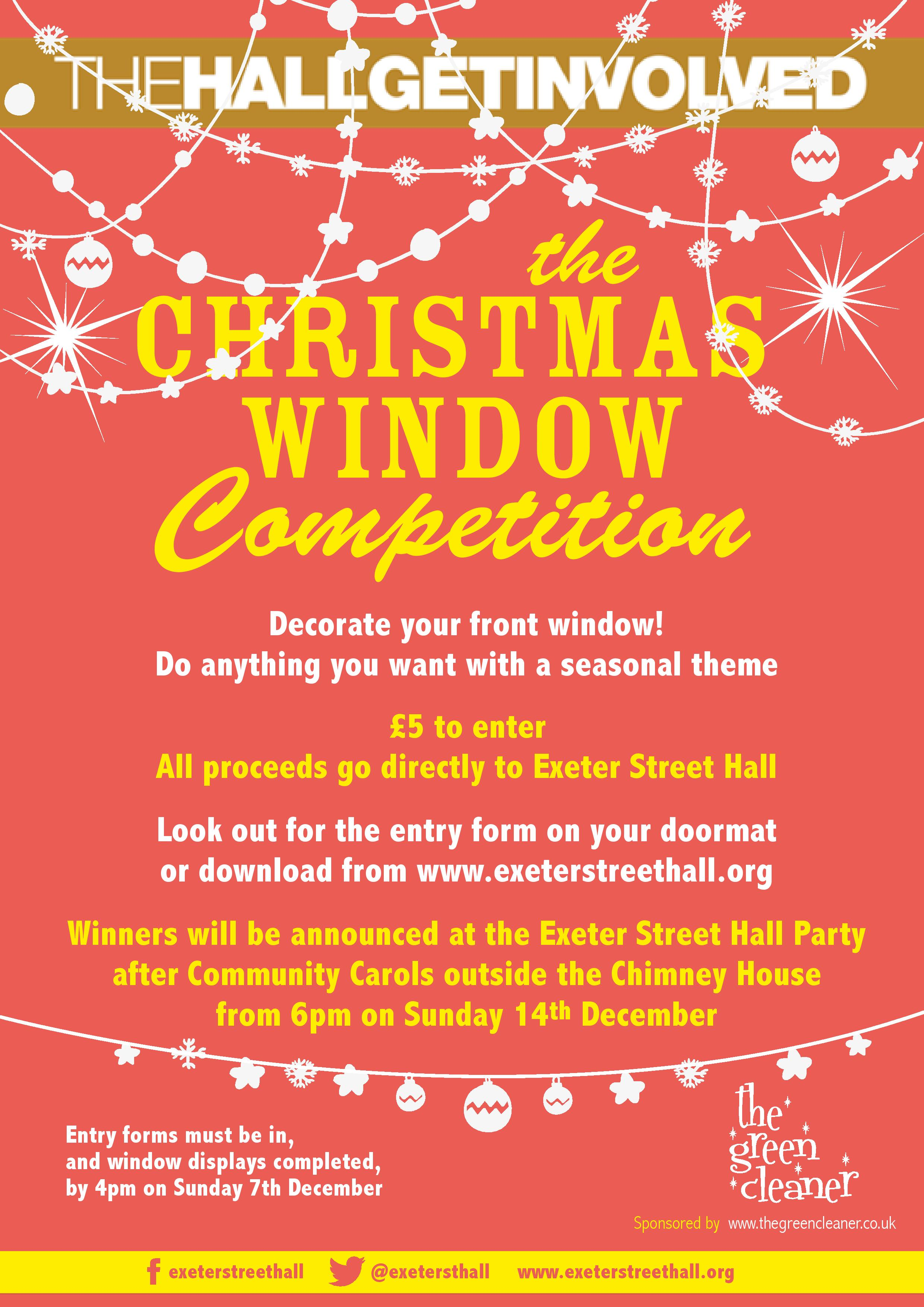 Christmas Window Competition – NOW CLOSED! – Exeter Street Hall