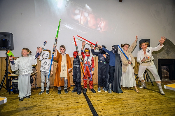 Star Wars evening at Exeter Street Hall.