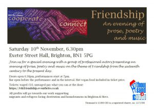 Friendship: An evening of prose, poetry and music