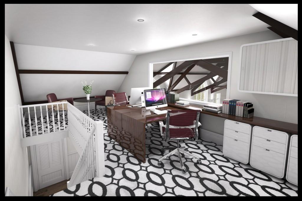 Office space on a mezanine