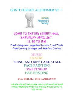 Don't Forget Alzheimer's - Kid's Fundraiser
