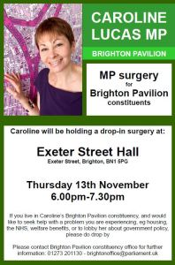 Caroline Lucas MP - Drop-in Surgery