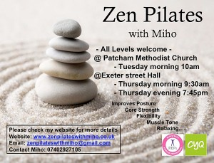 Zen Pilates with Miho (Evening)