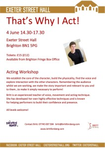 That's Why I Act! (Workshops)