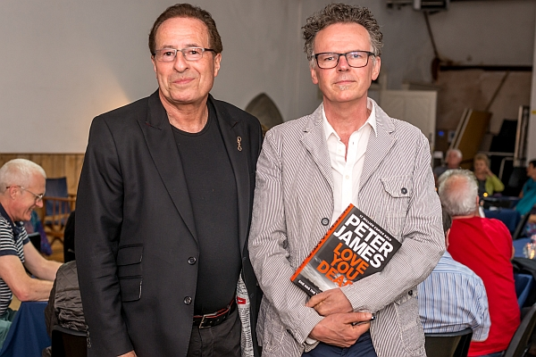 Peter James night at Exeter Street Hall.