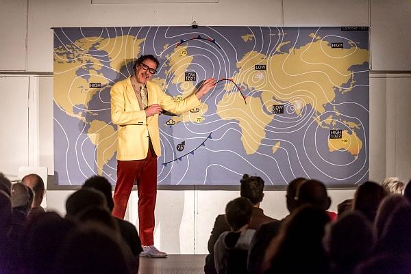 "Simon Hudson performing ""Hurricane Michael"" at Exeter Street Hall"