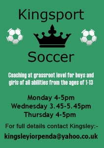 KingSport Soccer (Mondays)
