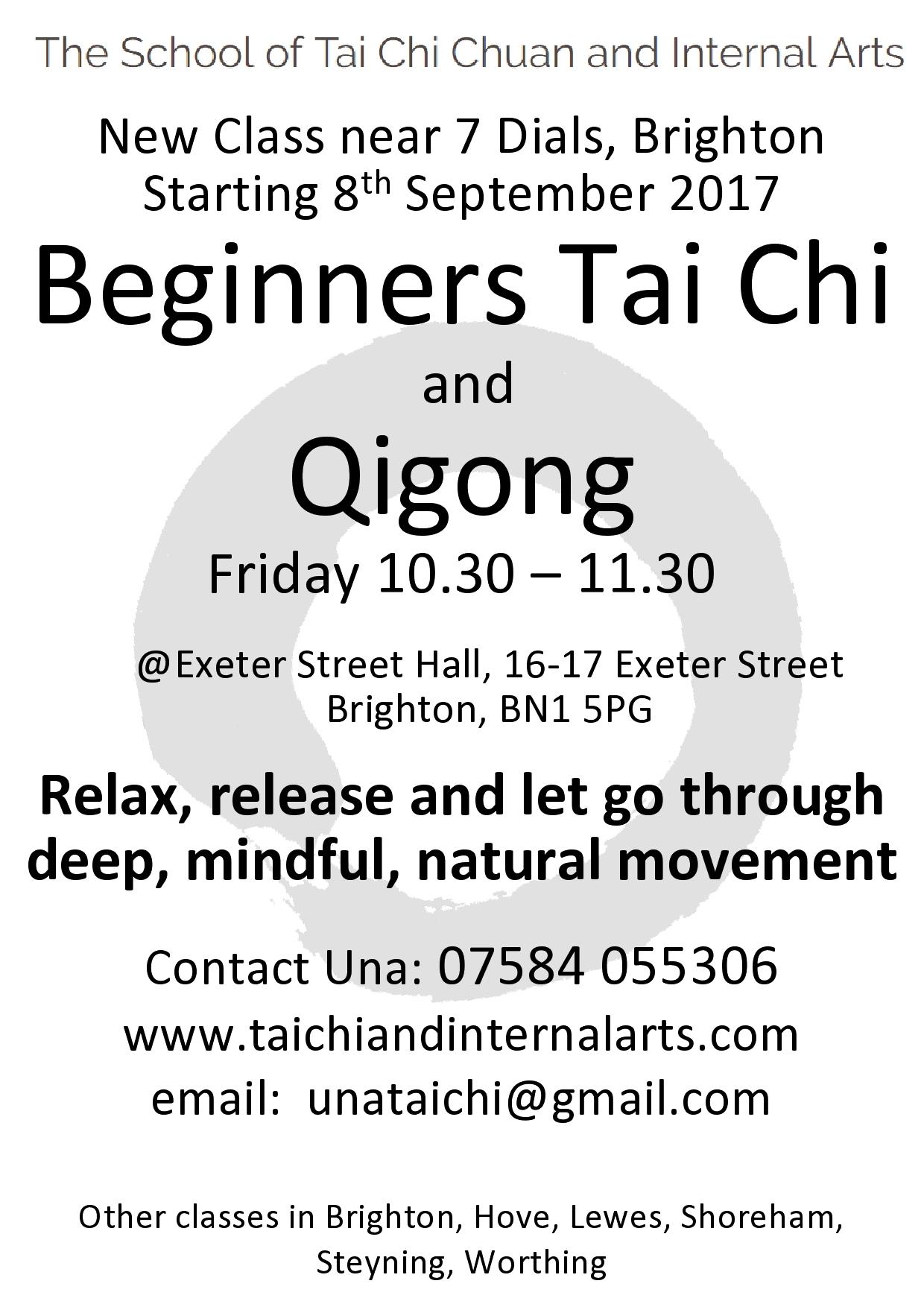 Beginners Tai Chi – Exeter Street Hall