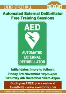 Free Community Defib Awareness Training @ Exeter Street Hall