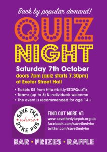 Save the Dyke Pub Quiz Night