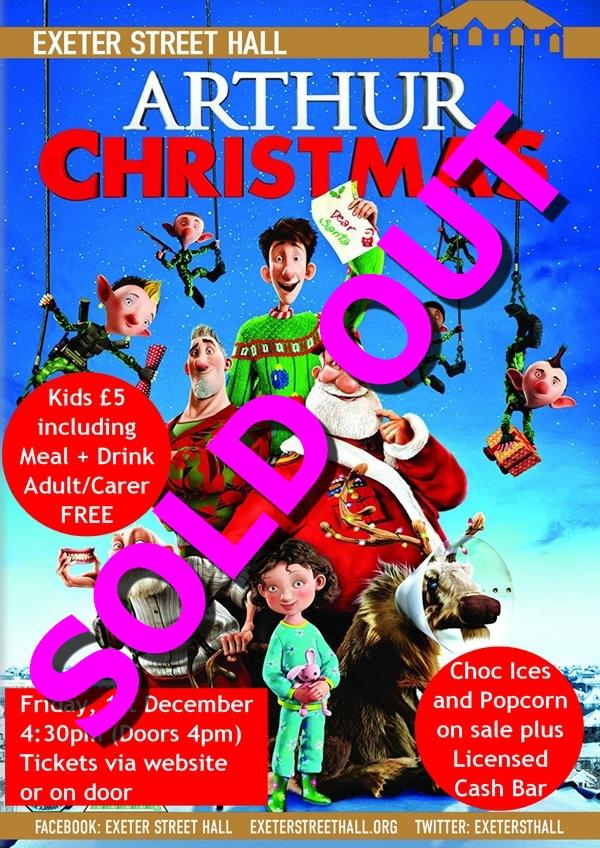 Arthur Christmas Poster.Film Friday Arthur Christmas Exeter Street Hall