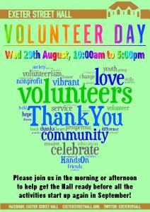 Volunteer Day 2018 @ Exeter Street Hall